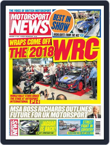 Motorsport News January 17th, 2018 Digital Back Issue Cover