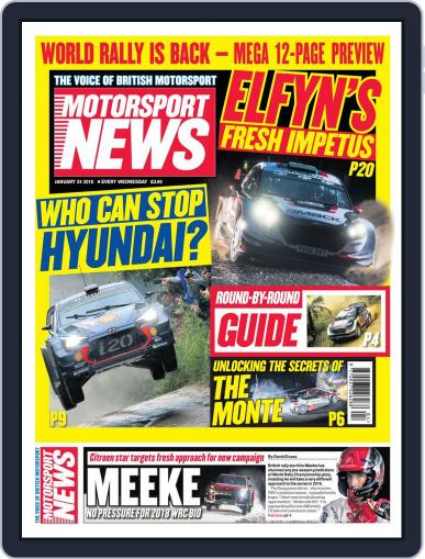 Motorsport News January 24th, 2018 Digital Back Issue Cover