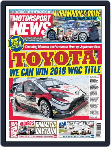 Motorsport News January 31st, 2018 Digital Back Issue Cover