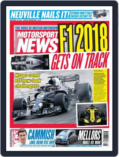 Motorsport News (Digital) February 21st, 2018 Issue Cover