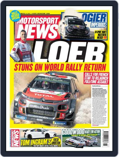 Motorsport News (Digital) March 14th, 2018 Issue Cover
