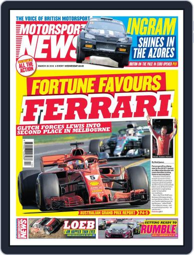 Motorsport News (Digital) March 28th, 2018 Issue Cover