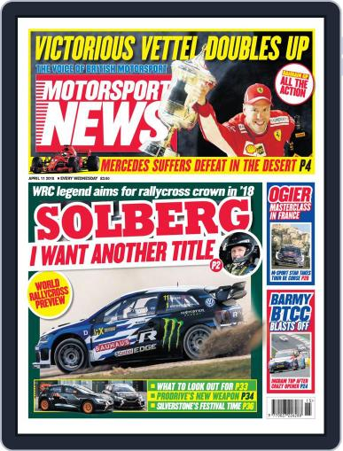 Motorsport News (Digital) April 11th, 2018 Issue Cover