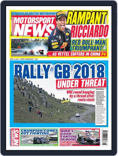 Motorsport News (Digital) April 18th, 2018 Issue Cover