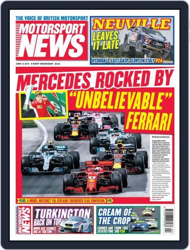 Motorsport News (Digital) June 13th, 2018 Issue Cover