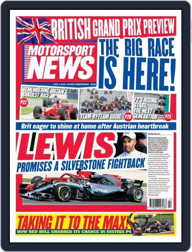 Motorsport News July 4th, 2018 Digital Back Issue Cover