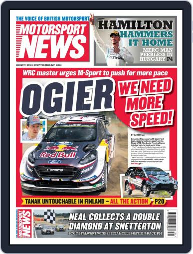 Motorsport News (Digital) August 1st, 2018 Issue Cover