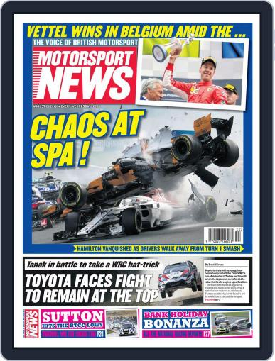 Motorsport News August 29th, 2018 Digital Back Issue Cover
