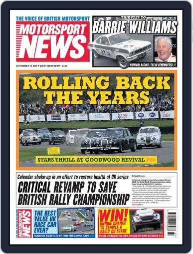 Motorsport News September 12th, 2018 Digital Back Issue Cover