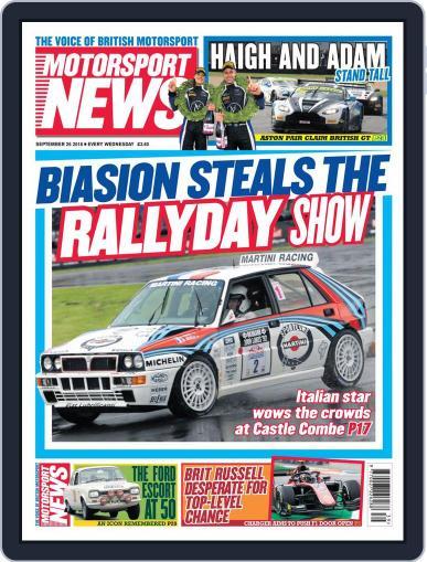 Motorsport News September 26th, 2018 Digital Back Issue Cover