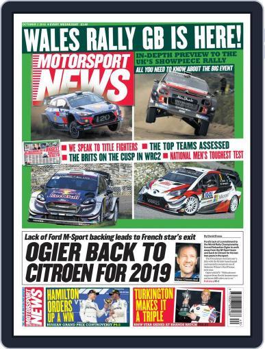 Motorsport News (Digital) October 3rd, 2018 Issue Cover