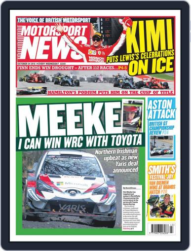 Motorsport News (Digital) October 24th, 2018 Issue Cover
