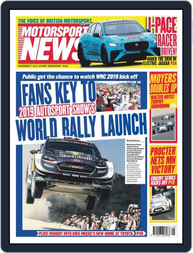 Motorsport News November 7th, 2018 Digital Back Issue Cover
