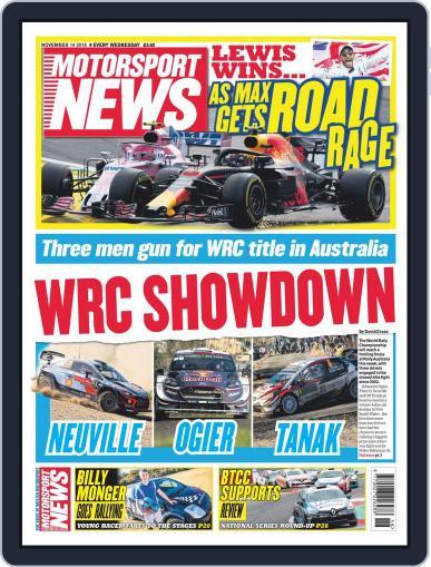 Motorsport News November 14th, 2018 Digital Back Issue Cover