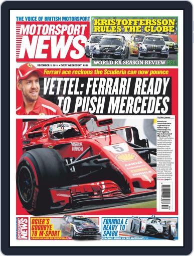 Motorsport News (Digital) December 12th, 2018 Issue Cover