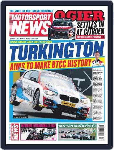 Motorsport News (Digital) January 9th, 2019 Issue Cover