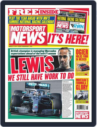Motorsport News (Digital) March 13th, 2019 Issue Cover