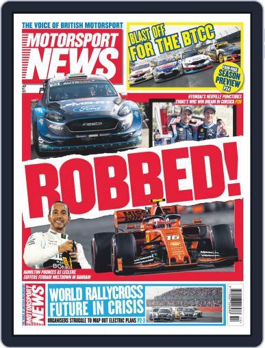Motorsport News April 3rd, 2019 Digital Back Issue Cover