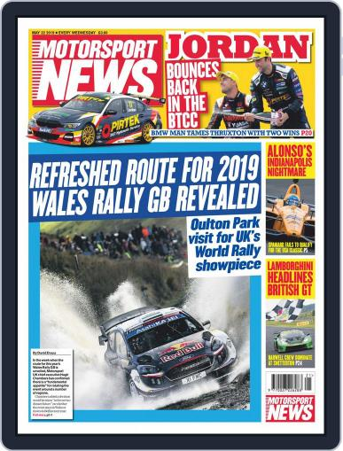 Motorsport News May 22nd, 2019 Digital Back Issue Cover