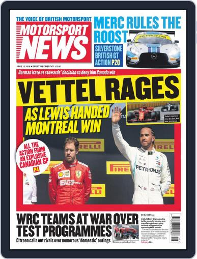 Motorsport News (Digital) June 12th, 2019 Issue Cover