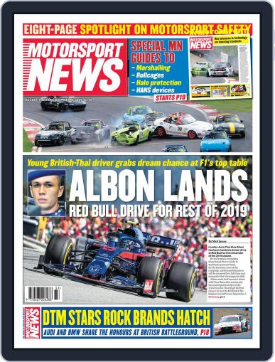 Motorsport News August 14th, 2019 Digital Back Issue Cover