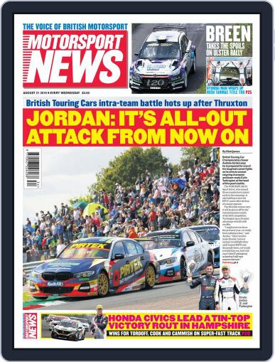 Motorsport News (Digital) August 21st, 2019 Issue Cover