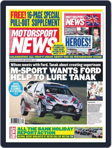 Motorsport News August 28th, 2019 Digital Back Issue Cover