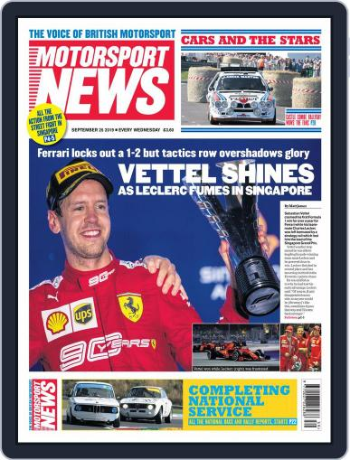 Motorsport News (Digital) September 25th, 2019 Issue Cover