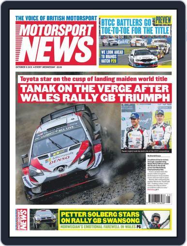 Motorsport News October 9th, 2019 Digital Back Issue Cover
