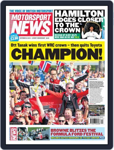 Motorsport News October 30th, 2019 Digital Back Issue Cover