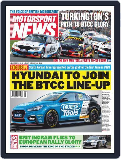 Motorsport News (Digital) November 13th, 2019 Issue Cover