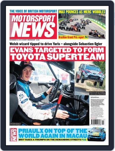 Motorsport News (Digital) November 20th, 2019 Issue Cover