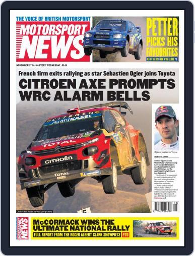 Motorsport News (Digital) November 27th, 2019 Issue Cover