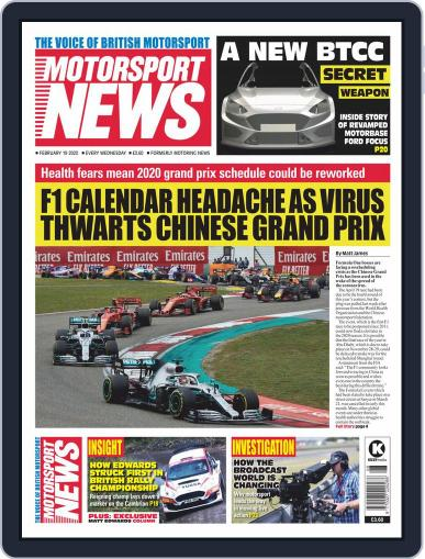 Motorsport News (Digital) February 19th, 2020 Issue Cover