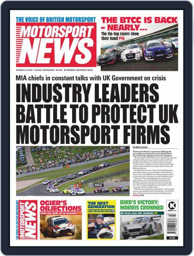 Motorsport News March 25th, 2020 Digital Back Issue Cover
