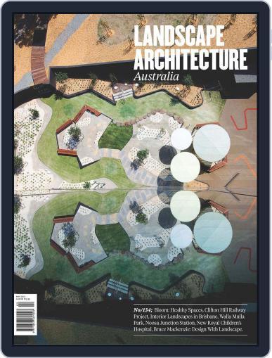 Landscape Architecture Australia (Digital) May 4th, 2012 Issue Cover
