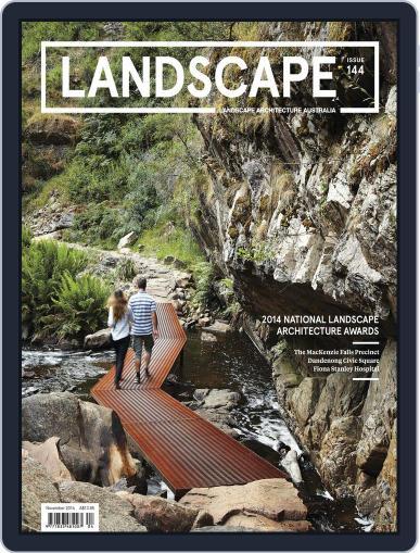 Landscape Architecture Australia (Digital) October 20th, 2014 Issue Cover