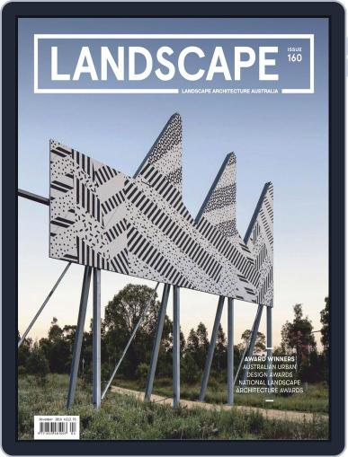 Landscape Architecture Australia November 1st, 2018 Digital Back Issue Cover