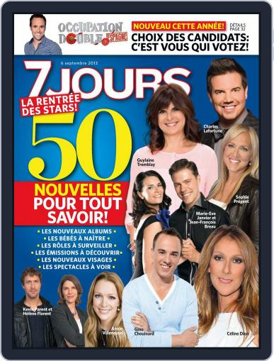 7 Jours August 29th, 2013 Digital Back Issue Cover