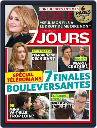 7 Jours (Digital) December 4th, 2015 Issue Cover