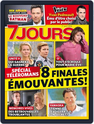 7 Jours April 2nd, 2016 Digital Back Issue Cover