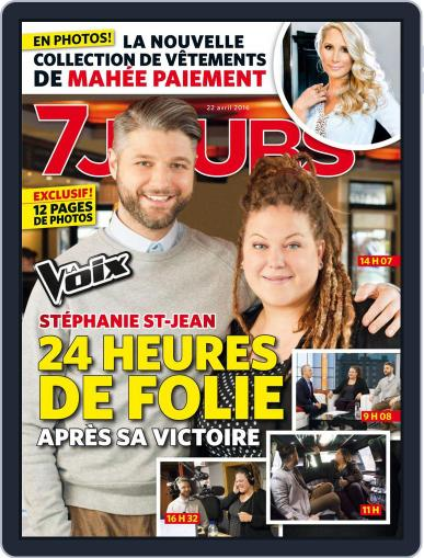 7 Jours (Digital) April 22nd, 2016 Issue Cover