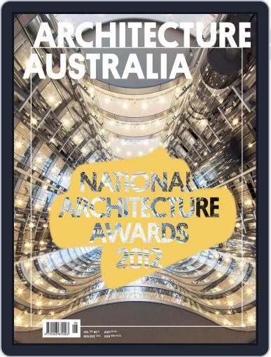 Architecture Australia November 4th, 2012 Digital Back Issue Cover