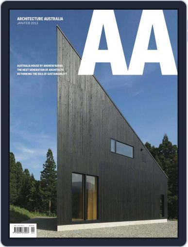 Architecture Australia (Digital) February 10th, 2013 Issue Cover