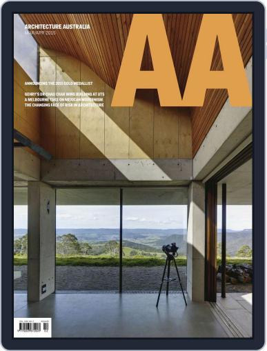 Architecture Australia (Digital) March 23rd, 2015 Issue Cover