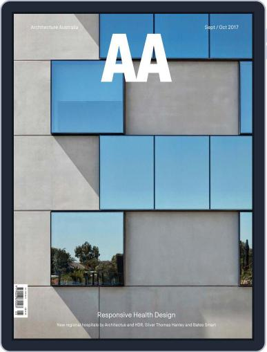 Architecture Australia (Digital) September 1st, 2017 Issue Cover