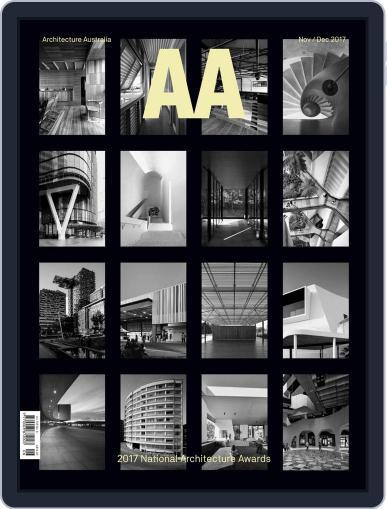 Architecture Australia (Digital) November 1st, 2017 Issue Cover