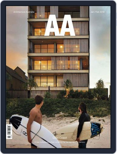 Architecture Australia (Digital) January 1st, 2018 Issue Cover