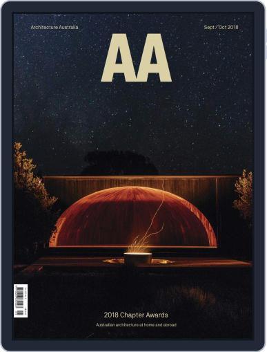 Architecture Australia (Digital) September 1st, 2018 Issue Cover