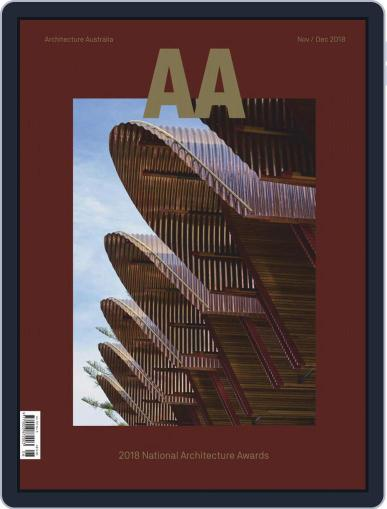 Architecture Australia (Digital) November 1st, 2018 Issue Cover
